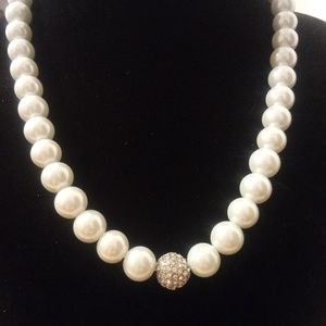 NY and Co Pearl Strand with Rhinestone Accent
